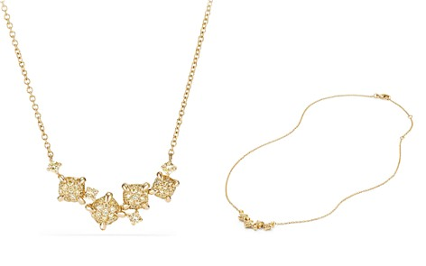 David Yurman Precious Châtelaine Necklace with Yellow Diamonds in 18K Gold - Bloomingdale's_2