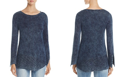 Heather B Asymmetric Ribbed Sweater - Bloomingdale's_2