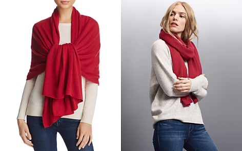 C by Bloomingdale's Solid Oversized Cashmere Wrap - 100% Exclusive_2