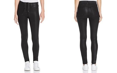 Hudson Bullocks Coated Super Skinny Jeans in Black - Bloomingdale's_2