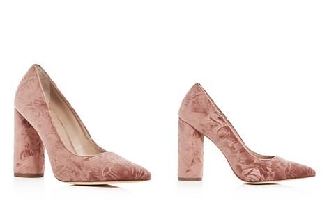 Pour La Victoire Women's Cece Embossed Velvet Pointed Toe Pumps - Bloomingdale's_2
