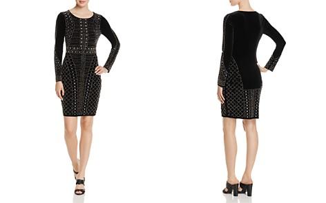 AQUA Beaded Velvet Sheath Dress - 100% Exclusive - Bloomingdale's_2