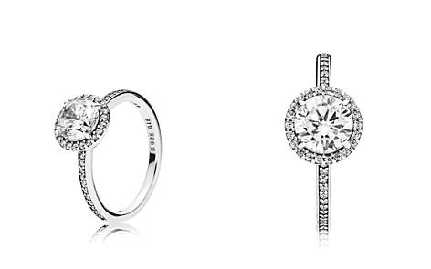 PANDORA Sterling Silver & Cubic Zirconia Classic Elegance Ring - Bloomingdale's_2