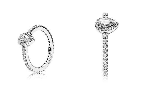 PANDORA Sterling Silver & Cubic Zirconia Radiant Teardrop Ring - Bloomingdale's_2