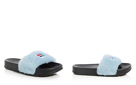 Baja East x FILA Women's Faux Fur Pool Slide Sandals - Bloomingdale's_2