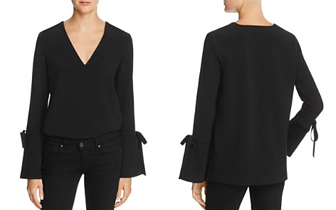 Dylan Gray Tie-Detail Flare-Cuff Top - Bloomingdale's_2