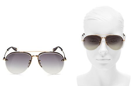 Givenchy Brow Bar Aviator Sunglasses, 62mm - Bloomingdale's_2