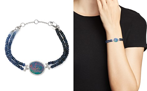 Meira T 14K White Gold Sapphire Beaded Bracelet with Opal and Diamonds - Bloomingdale's_2