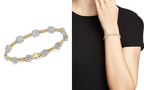 Bloomingdale's Diamond Beaded Bracelet in 14K White and Yellow Gold, 1.50 ct. t.w. - 100% Exclusive _2