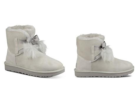 UGG® Women's Gita Sheepskin & Fur Pom-Pom Booties - Bloomingdale's_2