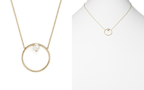 """Zoë Chicco 14K Yellow Gold Cultured Freshwater Pearl Circle Pendant Necklace, 18"""" - Bloomingdale's_2"""