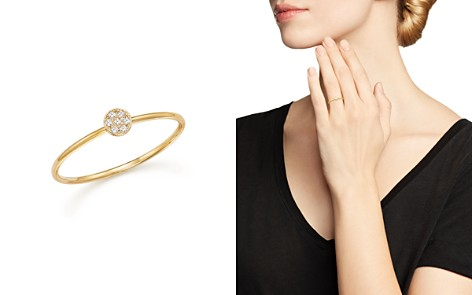 Zoë Chicco 14K Yellow Gold Itty Bitty Round Disc Pavé Diamond Stack Ring - Bloomingdale's_2