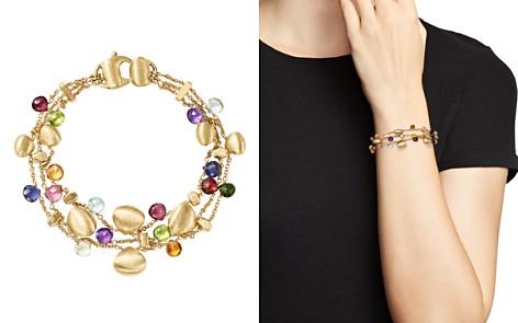 Marco Bicego 18K Yellow Gold Paradise Teardrop Three Strand Gemstone Bracelet - Bloomingdale's_2