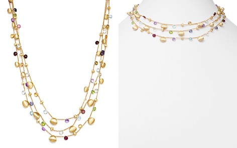 "Marco Bicego 18K Yellow Gold Paradise Teardrop Three Strand Gemstone Necklace, 16"" - Bloomingdale's_2"
