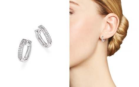 KC Designs 14K White Gold Diamond Double Row Huggie Hoop Earrings - Bloomingdale's_2