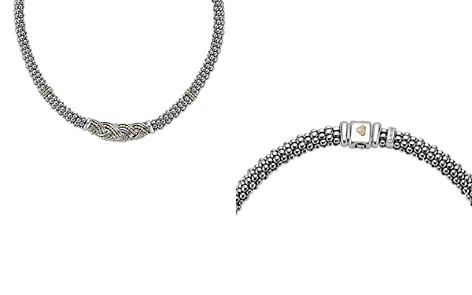 "LAGOS 18K Gold & Sterling Silver Torsade Rope Station Necklace, 16"" - Bloomingdale's_2"