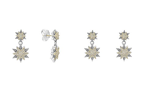 LAGOS 18K Gold & Sterling Silver North Star Diamond Double Drop Earrings - Bloomingdale's_2