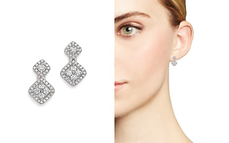 Bloomingdale's Diamond Cluster Drop Earrings in 14K White Gold, .50 ct. t.w. - 100% Exclusive_2