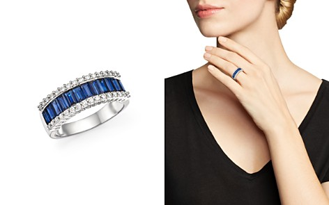 Bloomingdale's Sapphire & Diamond Ring in 14K White Gold - 100% Exclusive_2