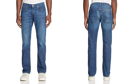 7 For All Mankind Mariner Straight Fit Jeans in Medium Blue - Bloomingdale's_2