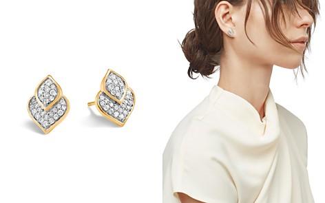 John Hardy 18K Yellow Gold Legends Naga Pavé Diamond Stud Earrings - Bloomingdale's_2
