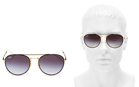 Ray-Ban Unisex Brow Bar Round Sunglasses, 55mm - Bloomingdale's_2