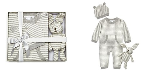 Elegant Baby Unisex Striped Coverall, Hat & Bunny Gift Set, Baby - 100% Exclusive - Bloomingdale's_2