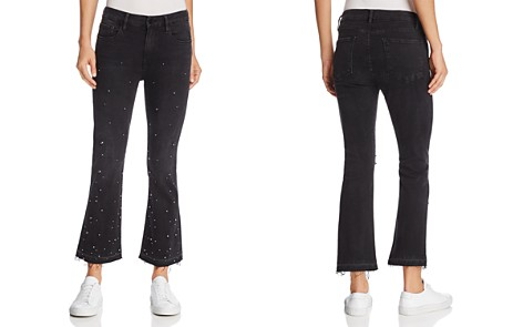 FRAME Le Crop Mini Boot Released Hem Embellished Jeans in Mott Street - Bloomingdale's_2