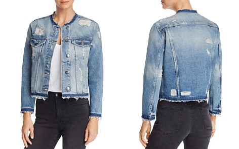 FRAME Le Rigid Re-Release Raw-Edge Denim Jacket - Bloomingdale's_2