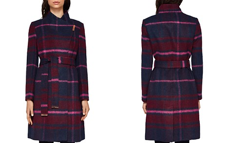 Ted Baker Fredye Check Long Wrap Coat - Bloomingdale's_2