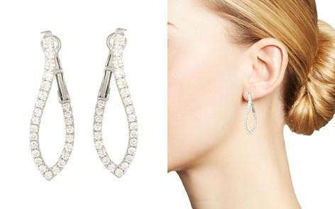 Frederic Sage 18K White Gold Large Abstract Diamond Hoop Earrings - Bloomingdale's_2