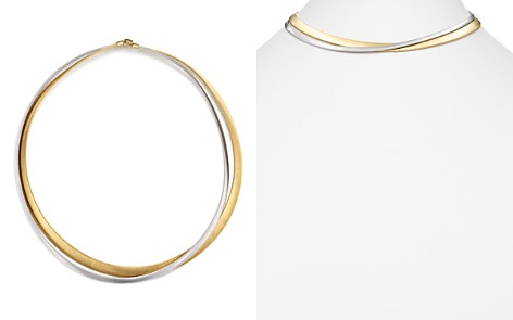 """Marco Bicego 18K White & Yellow Gold Masai Two Strand Necklace, 15"""" - Bloomingdale's_2"""