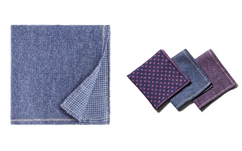The Men's Store at Bloomingdale's Solid Bordered Wool Pocket Square - 100% Exclusive_2