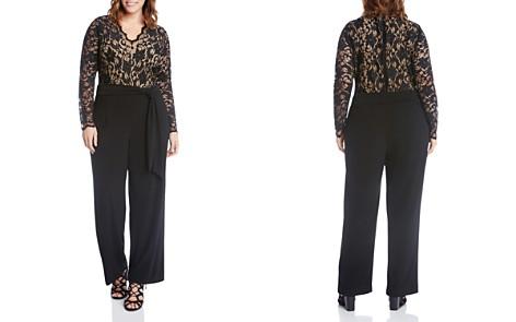 Karen Kane Plus Scalloped Lace Palazzo Jumpsuit - Bloomingdale's_2