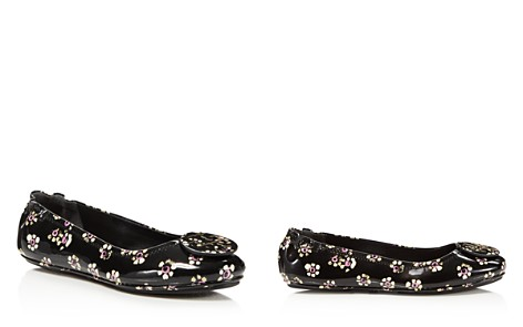 Tory Burch Women's Minnie Patent Leather Travel Ballet Flats - Bloomingdale's_2
