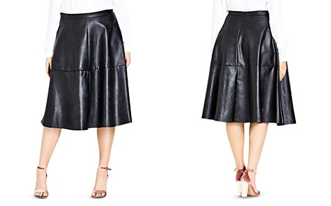 City Chic Flirt Faux Leather Skirt - Bloomingdale's_2