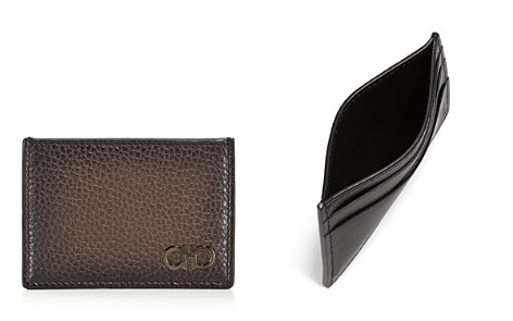 Salvatore Ferragamo Firenze Glow Pebbled Leather Card Case - Bloomingdale's_2