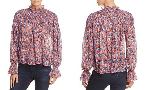 Rebecca Taylor Cosmic Floral Print Top - Bloomingdale's_2