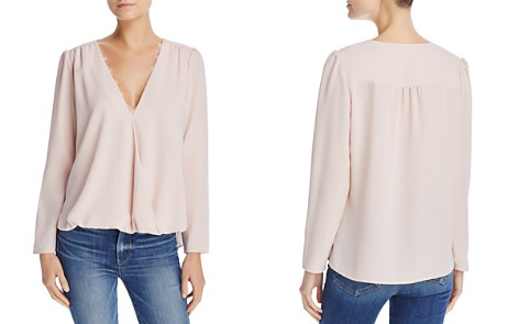 Cooper & Ella Lace-Trimmed Wrap-Detail Top - Bloomingdale's_2