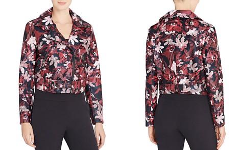 CATHERINE Catherine Malandrino Veruca Floral Print Faux Leather Moto Jacket - Bloomingdale's_2