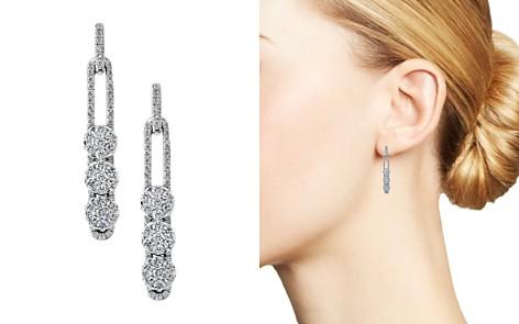 Hulchi Belluni 18K White Gold Tresore Diamond Linear Earrings - Bloomingdale's_2