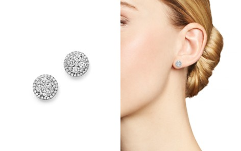 Bloomingdale's Diamond Cluster Stud Earrings in 14K White Gold, .75 ct. t.w. - 100% Exclusive_2