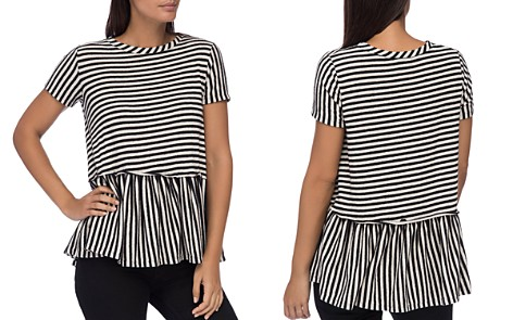 B Collection by Bobeau Jasey Stripe Peplum Top - Bloomingdale's_2