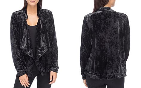 B Collection by Bobeau Magda Crushed Velvet Drape Jacket - Bloomingdale's_2