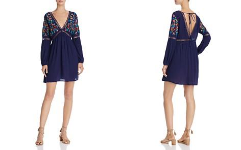 En Créme V-Neck Embroidered Dress - Bloomingdale's_2