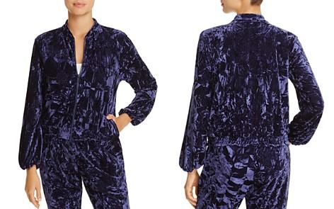 Josie Crushed Velvet Zip Jacket - Bloomingdale's_2