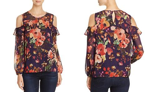 Finn & Grace Metallic Floral Cold Shoulder Top - 100% Exclusive - Bloomingdale's_2