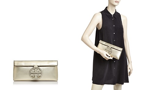 Tory Burch Miller Metallic Leather Clutch - Bloomingdale's_2