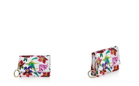 Salvatore Ferragamo Logo Gusset Floral Print Leather Card Case - Bloomingdale's_2