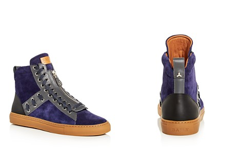 Bally Men's Hekem Lace Embellished Suede High Top Sneakers - Bloomingdale's_2